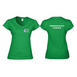T-shirt col V Femme Softstyle